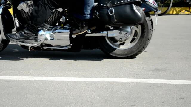 bikers motorcycle in city street
