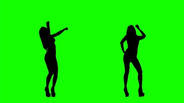 bikini taniec na zielonym ekranie - zagadnienia filmów i materiałów b-roll