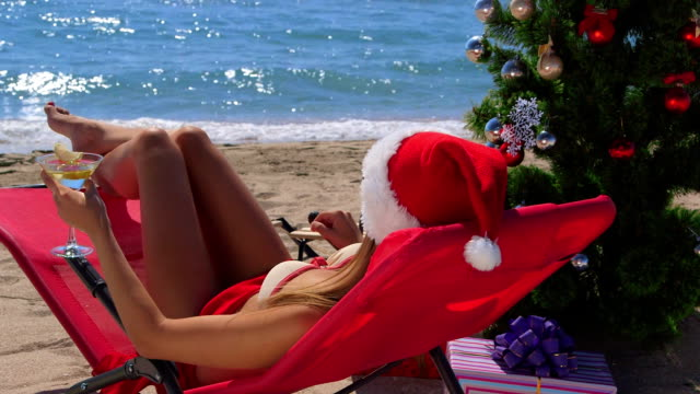 Bikini Santa at Beach Resort video