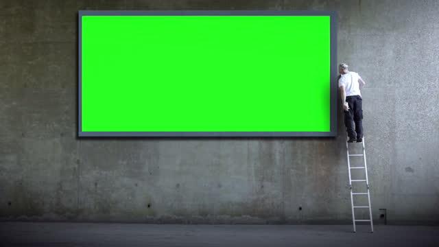 ビルボード/看板広告 - street graffiti点の映像素材/bロール