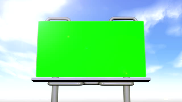 Billboard and signs presenting chroma key spaces