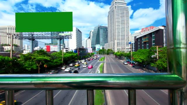 Billboard. Commercial Sign. street traffic video