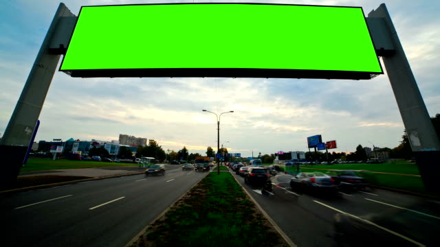 billboard green screen video