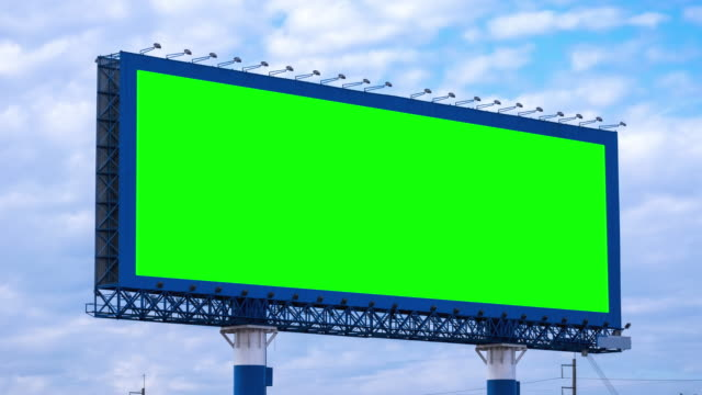 Billboard On Highway With Green Screen video