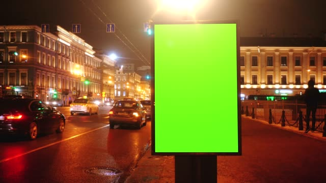 A Billboard with a Green Screen