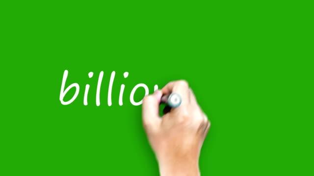 milliardär - schreiben mit stift auf green-screen - billionär stock-videos und b-roll-filmmaterial