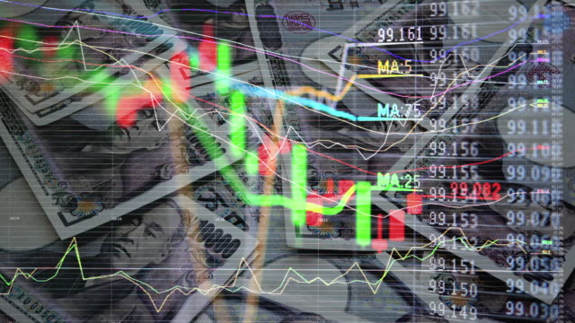 stockvideo's en b-roll-footage met rekeningen en kaarten en grafieken - yenteken