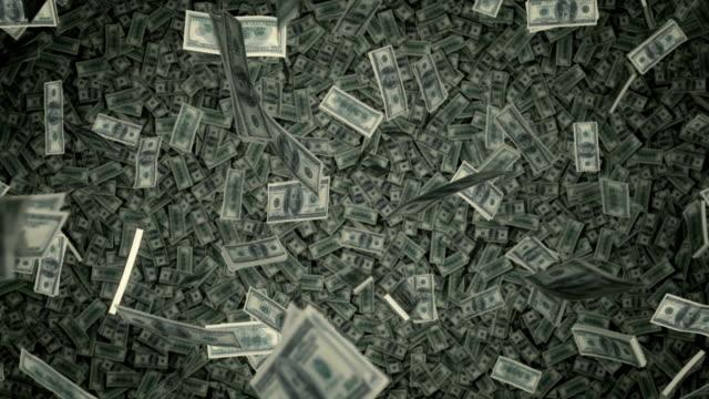 $100 rechnungen raning down-uns geld - sammlung stock-videos und b-roll-filmmaterial