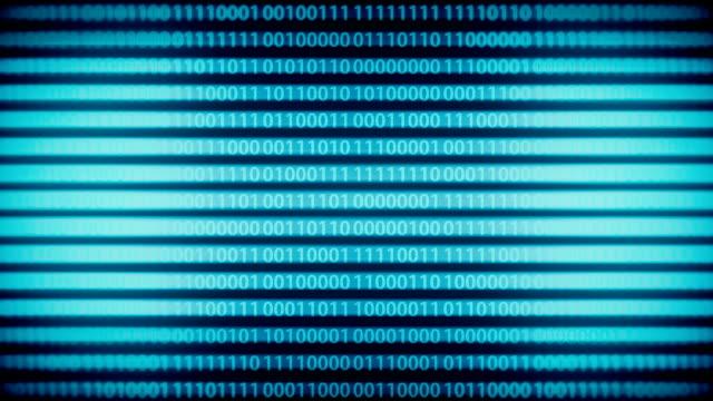Binary code animation loop video
