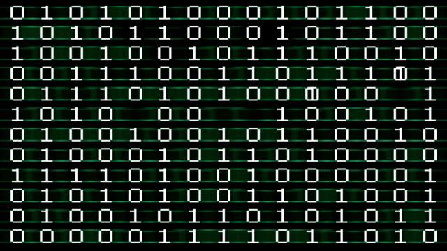 Binary code animation video
