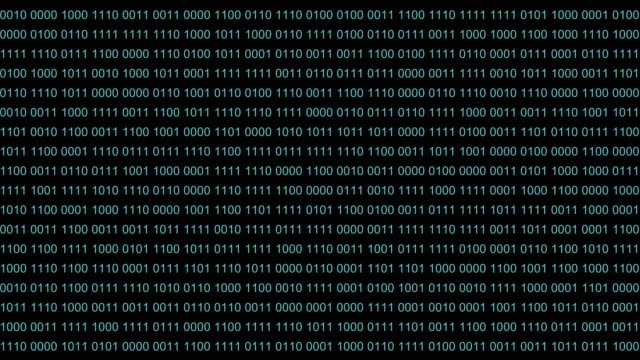 Binary code backdrop background. Blue digit numbers 0 1 one zero runs semless. Good abstract background futuristic computer technology. video