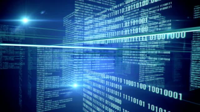 Binary Code Background (blue) - Loop