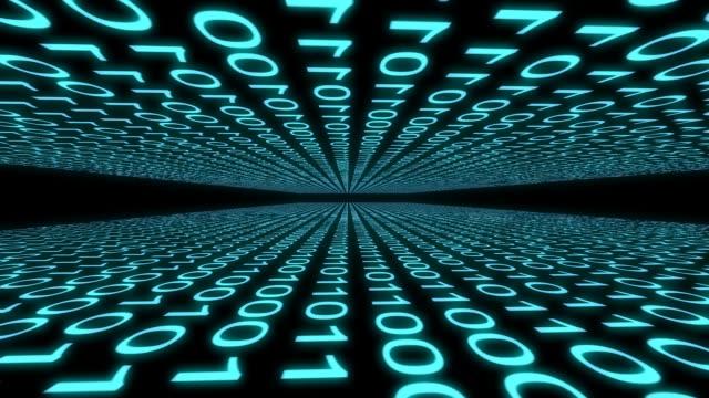stockvideo's en b-roll-footage met binaire code computer gegevens cyberspace grafische animatie - vachtpatroon