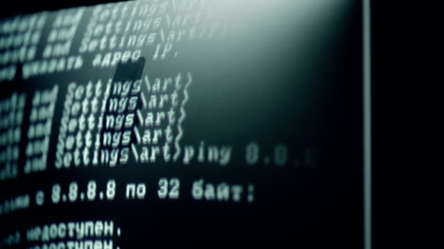 Binary Code Crime Dolly from computer screen to face of hacker identity theft stock videos & royalty-free footage