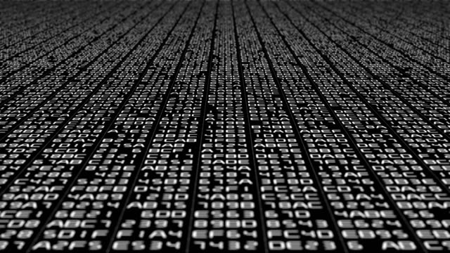 binary code data transfer, ai, cloud computing - big data video stock e b–roll