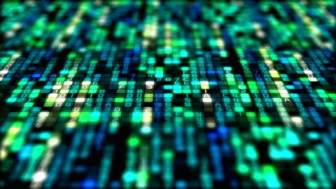 vídeos y material grabado en eventos de stock de código binario de transferencia de datos, ai, cloud computing - codificar