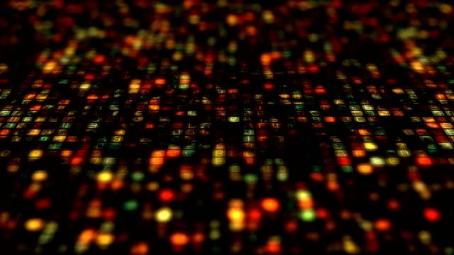 stockvideo's en b-roll-footage met de overdracht van de gegevens van binaire code, ai, cloud computing - datacenter