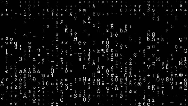 stockvideo's en b-roll-footage met binaire code data-overdracht, ai, cloud computing - uitwisselen