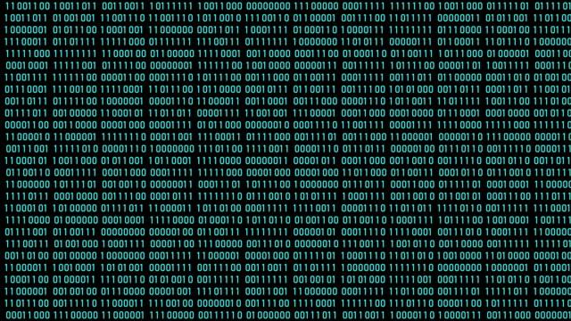 vídeos de stock e filmes b-roll de binary code digital numbers background . digits moving . 4k video - código binário