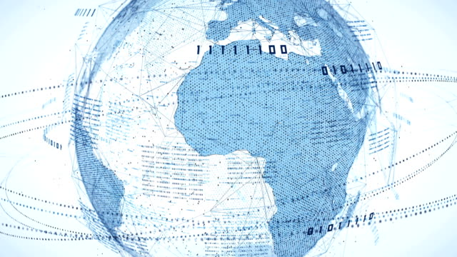 Binary Code Globe (Bright) - Loop