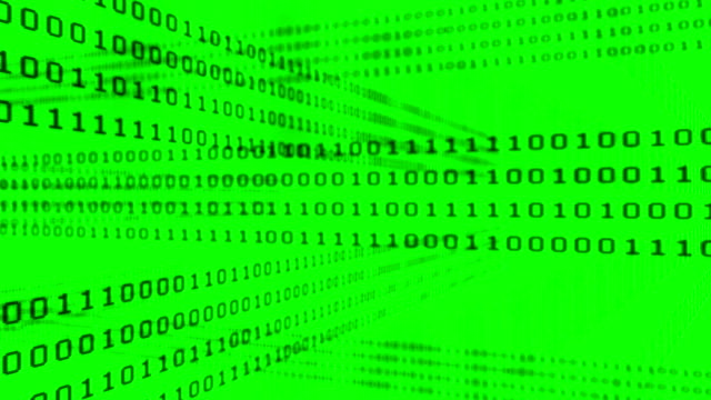binary code grid on green background - binary code stock videos & royalty-free footage