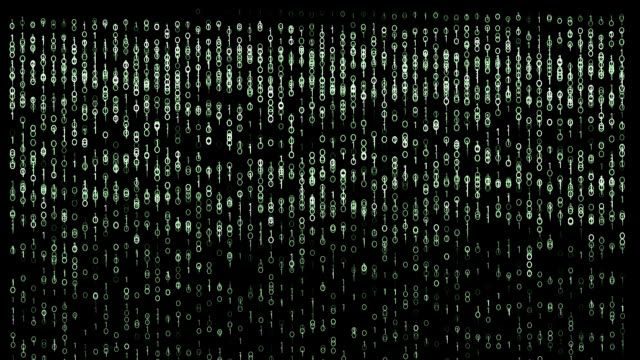 Binary code Matrix style background. video