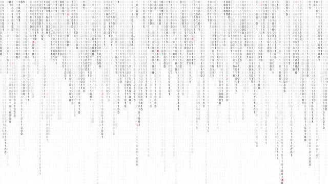 vídeos de stock, filmes e b-roll de plano numérico de código binário com dígitos movendo-se na tela, conceito de tecnologia digital, linguagem de computador, interface hud, segurança de hacking, fundo de matriz de linha. - código binário