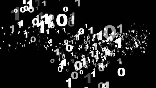 vidéos et rushes de code binaire numéros arrière-plan animation, rendu, boucle - science et technologie