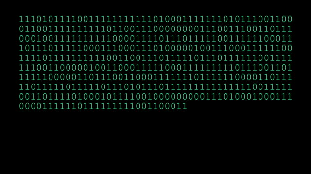 Binary Code Numbers video