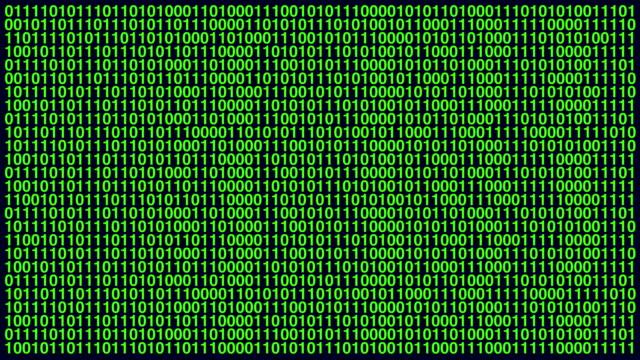 vídeos de stock, filmes e b-roll de código binário números zero e um ecrã de computador aleatoriamente povoar - código binário