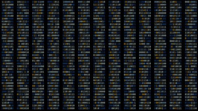 vídeos de stock, filmes e b-roll de sequências de código binário alterando na tela, abstrato cortando fundo, programação - log on