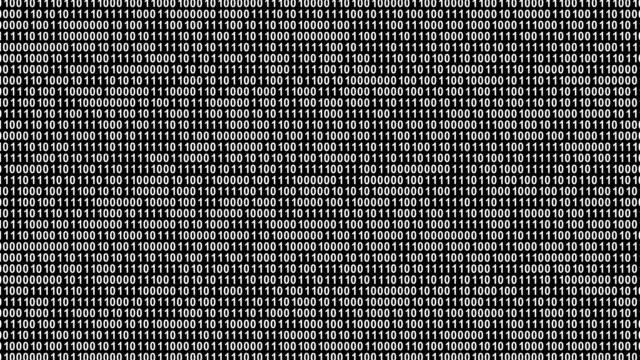 vídeos de stock e filmes b-roll de binary code - bit código binário