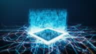 istock Binary CPU on Electronic Board 1178822266