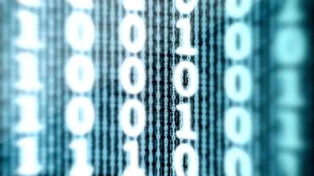 Binary Data Digital Display Loop video