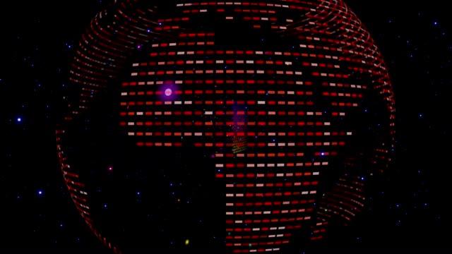 stockvideo's en b-roll-footage met binary data in a cloud - vachtpatroon