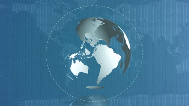 Binary Globe Background video