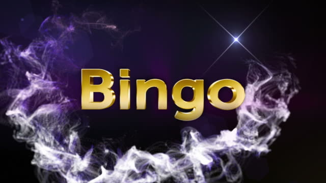 bingo oro testo, 4 m - bingo video stock e b–roll