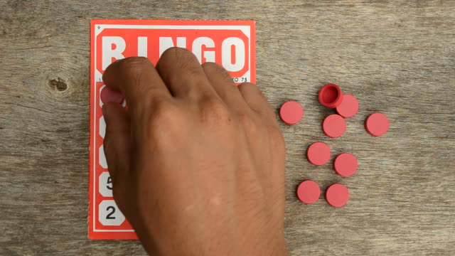 bingo - bingo video stock e b–roll