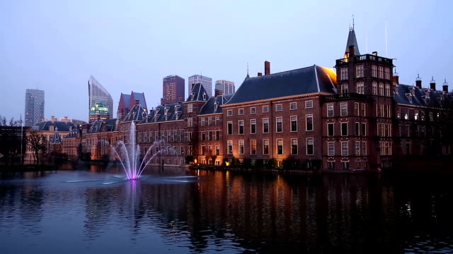 stockvideo's en b-roll-footage met hd: binnenhof, house of parliament, hague netherlands - den haag