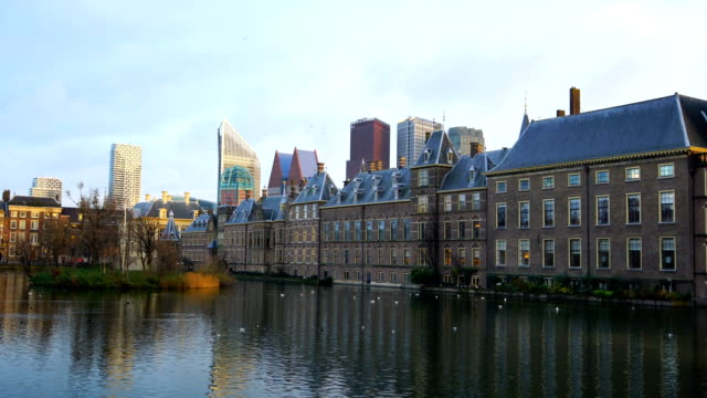 binnenhof (dutch parliament), the hague, netherlands - dutch architecture stock videos & royalty-free footage