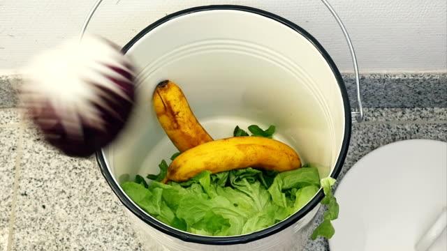 SLO MO Binning Still Edible Food video