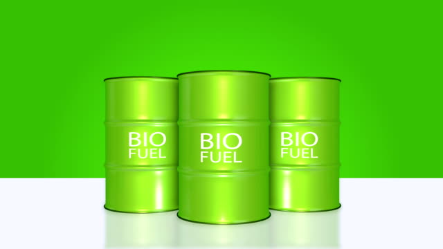 Bio Fuel barrel animation with alpha channel. video