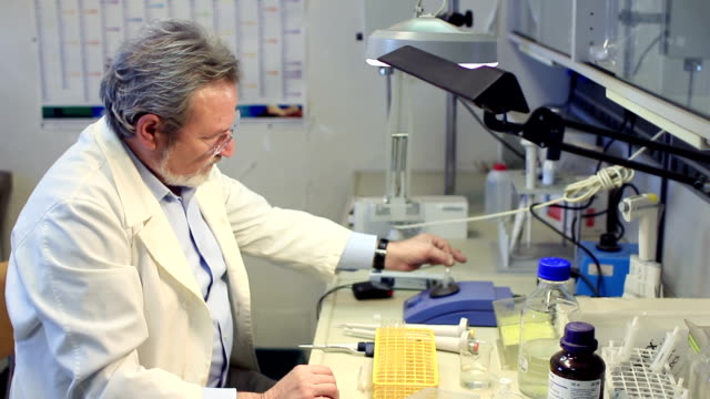 biochemist  working  in a laboratory video