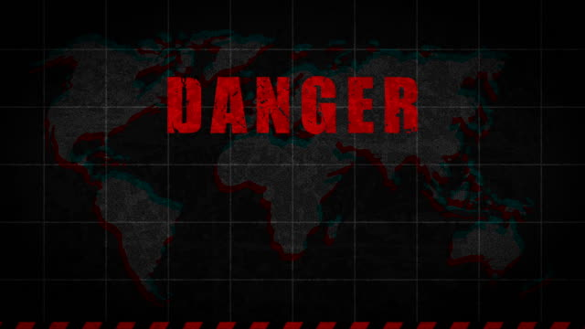 Biohazard Sign Danger Global Catastrophe Biohazard Sign Danger Global Catastrophe. Motion Graphics. time zone stock videos & royalty-free footage