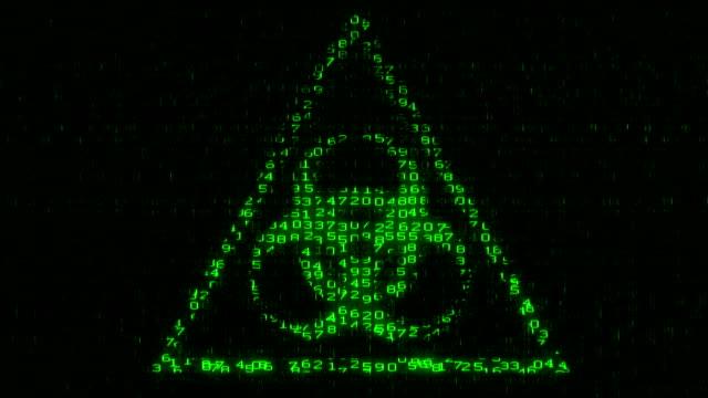 Biohazard Sign - Digital Data Code Matrix video