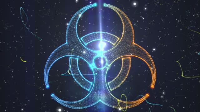 Biohazard symbol from a Particle Vortex video