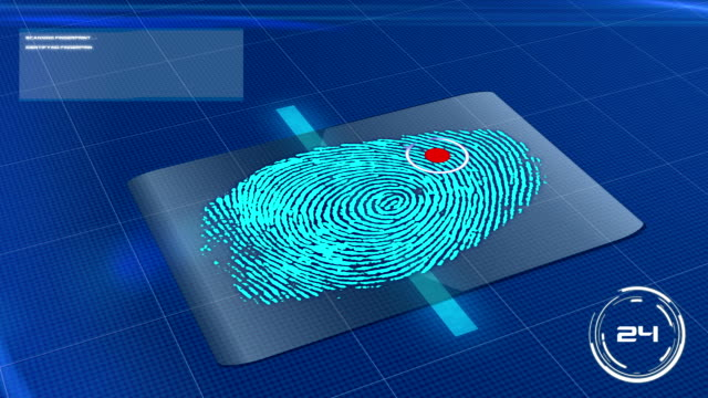 Biometric Fingerprint Scan Accepted video