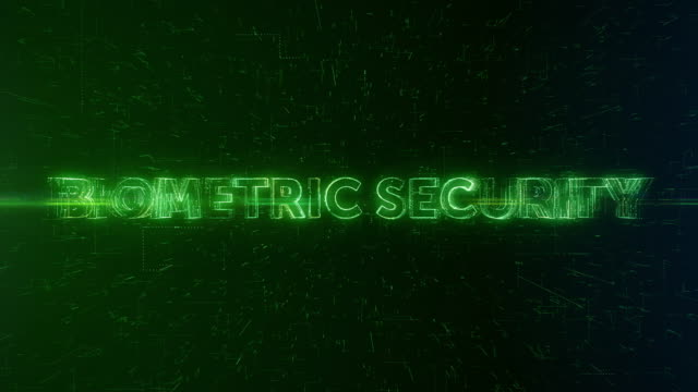 Biometric Security words animation video