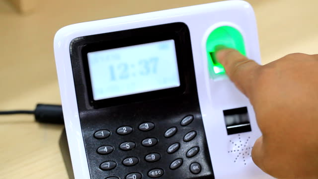 biometrics Fingerprint scan - concept of identity video
