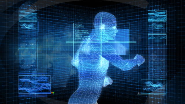Bionic 3D Man Running (HD Loop) video